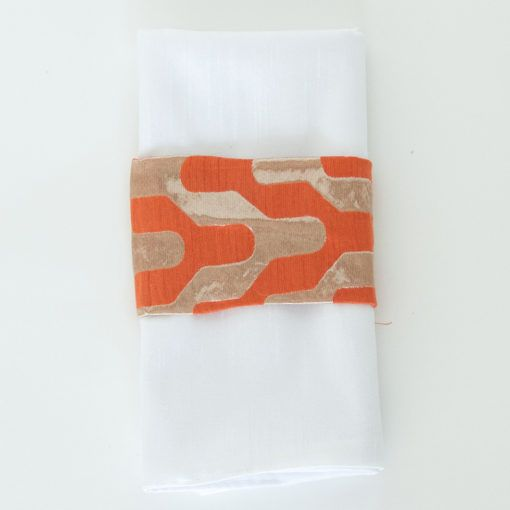 Orange and Gold Y – Napkin Band