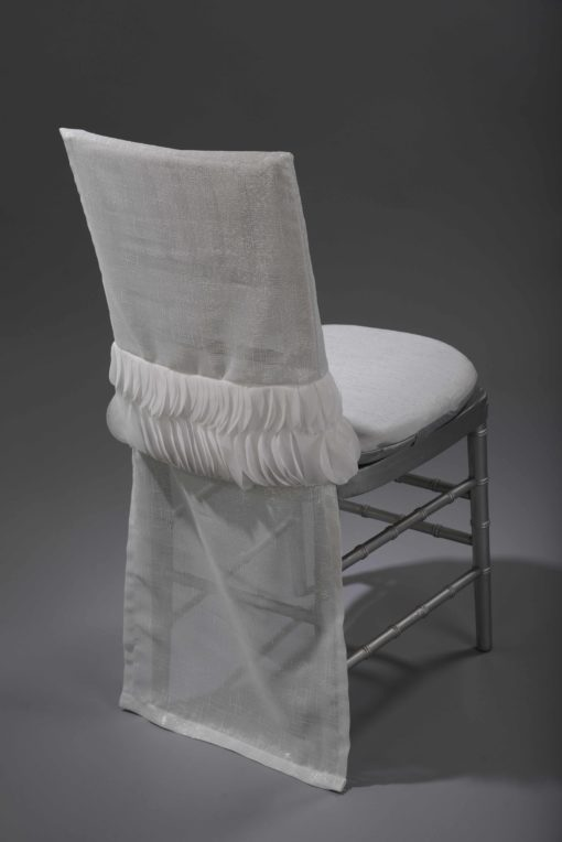 White Petals Band Chair Back