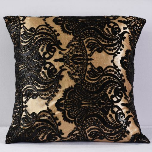 Gold and Black Sofia Pillow