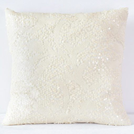 Nude Sequin Pattern Pillow