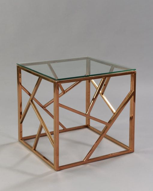 Cage Side Table - Rose Gold