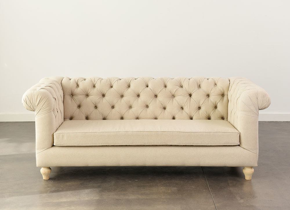 Oatmeal Chesterfield Sofa 3. Add To Wishlist Loading