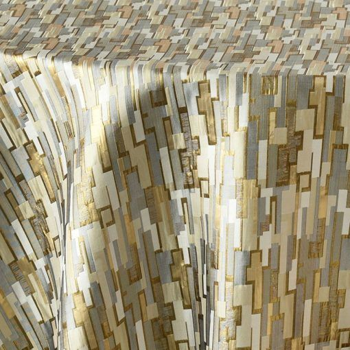 Gold and silver metallic maze - close up