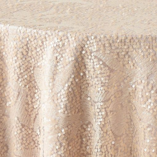 nude sequin pattern - close up