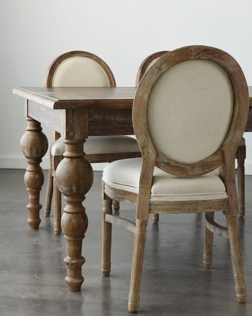 Maison dining table 96 x 48 x 30 H with maison chairs