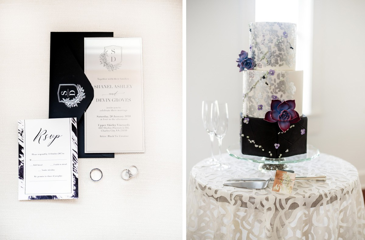 A Black and Purple Decor Palette to Inspire your Modern Wedding ...