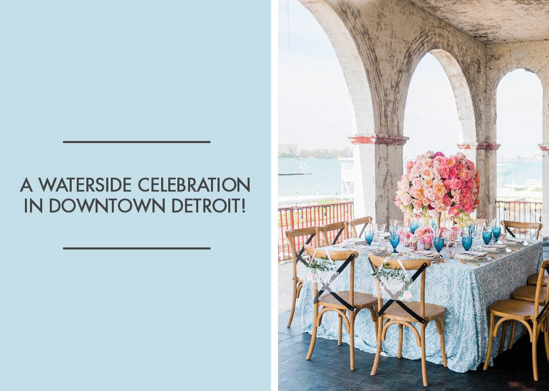 an outdoor wedding at the belle isle boat house in detroit michigan