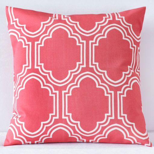 Coral Moroccan Pillow