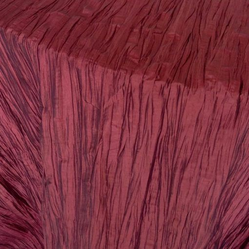 burgundy crinkled