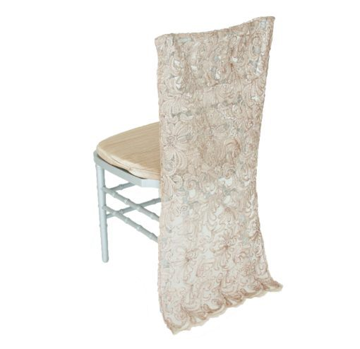 Taupe Victorian Lace Chair Back