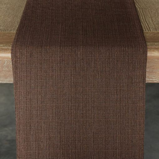 chocolate-oxford-table-runner
