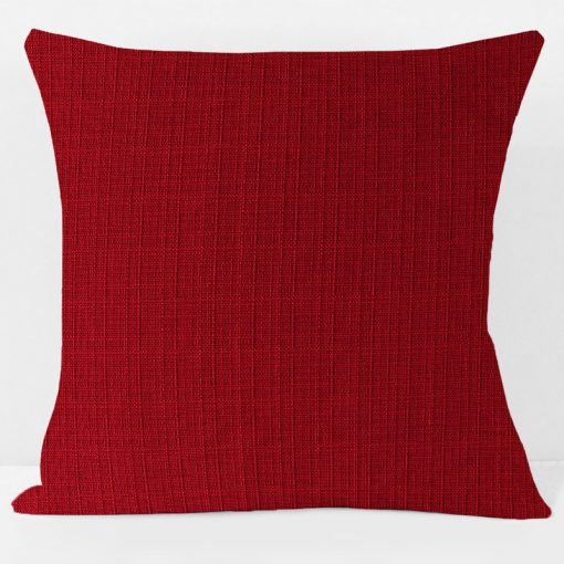 red-oxford-pillow