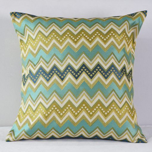Aqua & Green Missoni Pillow