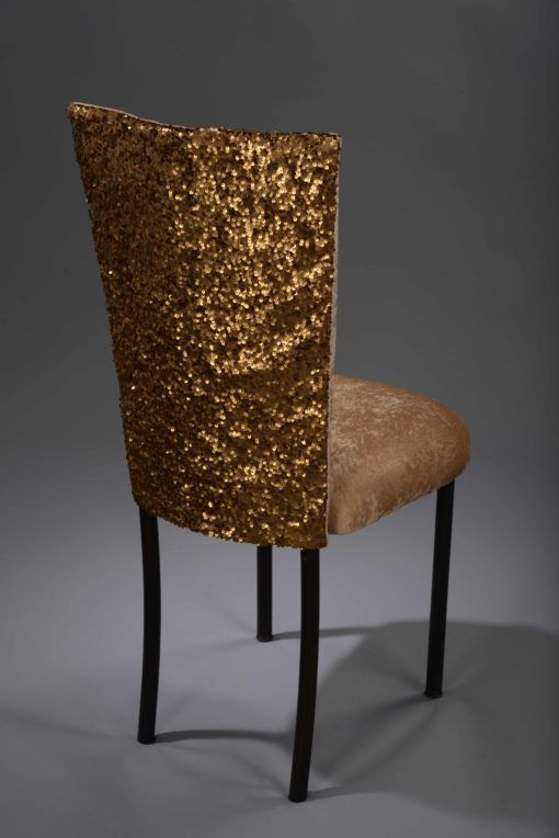 Dark Gold Sequin Taffeta Chameleon