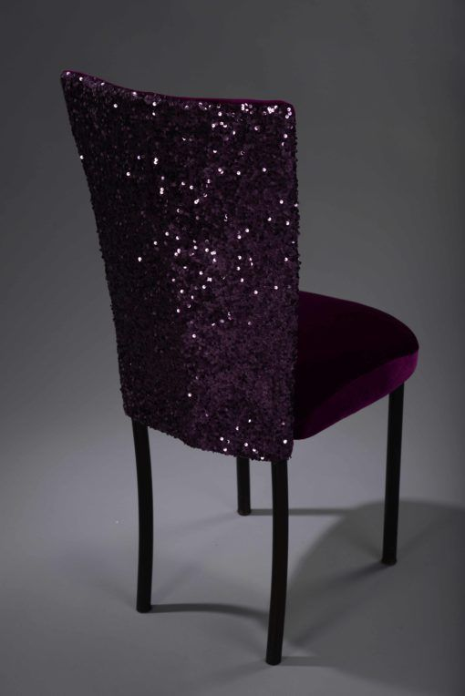 Purple Sequin Taffeta Chameleon