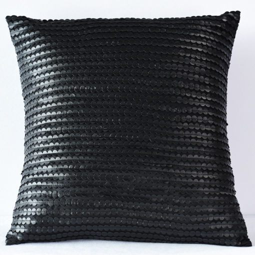 Black Leather Dot  Pillow