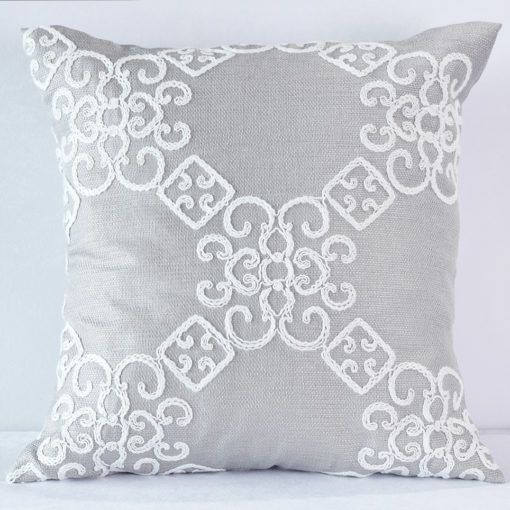 Grey Laurel Pillow