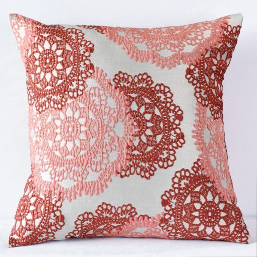 Red Big Lace Pillow