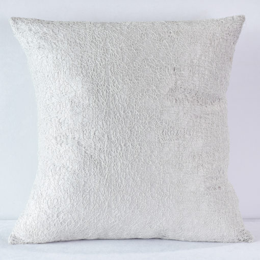 Silver Web Pillow