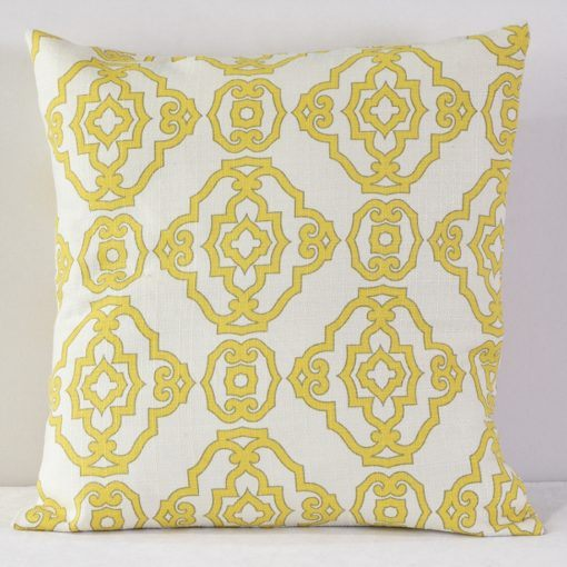 Yellow Papel Chino Pillow