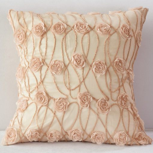 Blush New Flower Pillow