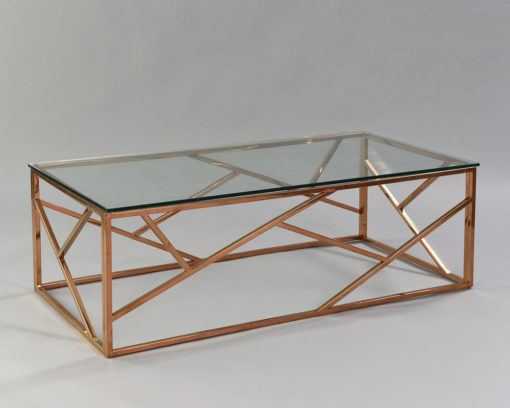 Cage Coffee Table - Rose Gold 2