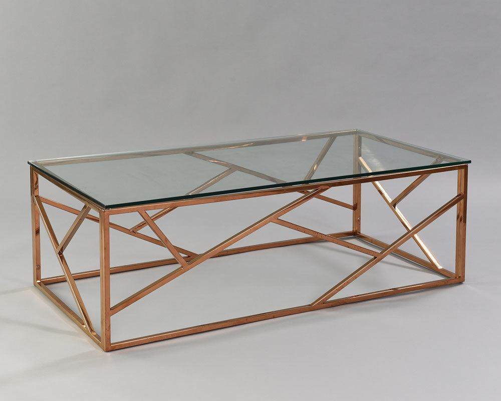 Cage Coffee Table - Rose Gold - Nüage Designs