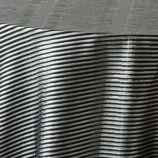 black metallic stripe - close up