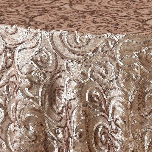 champagne paisley - close up