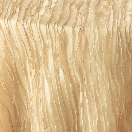 champagne ruffle - close up