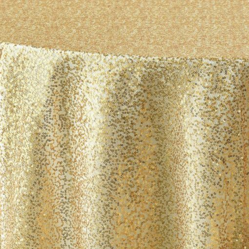 gold sequin mesh - close up