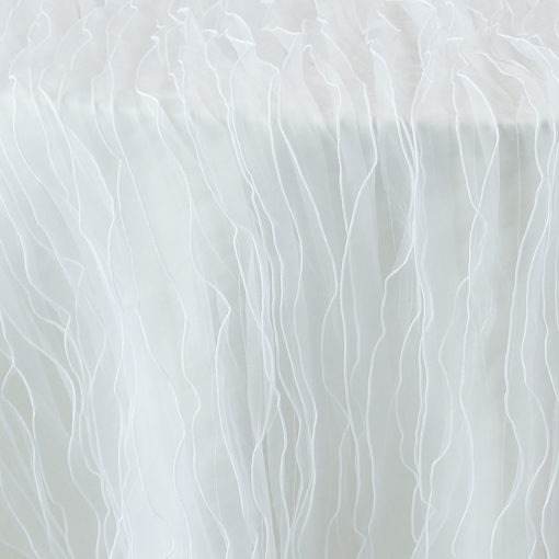 white ruffle - close up