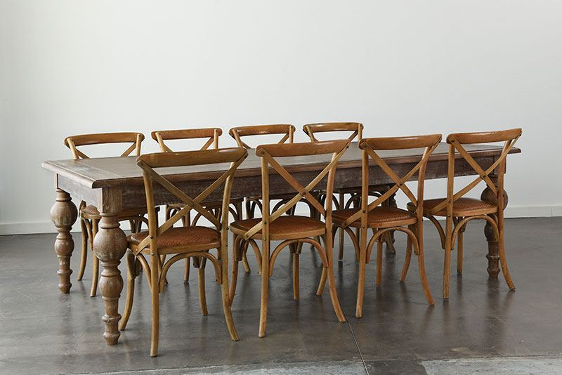 Maison Dining Table 96 X 48 X 30 H With Maison Chairs. Add To Wishlist  Loading