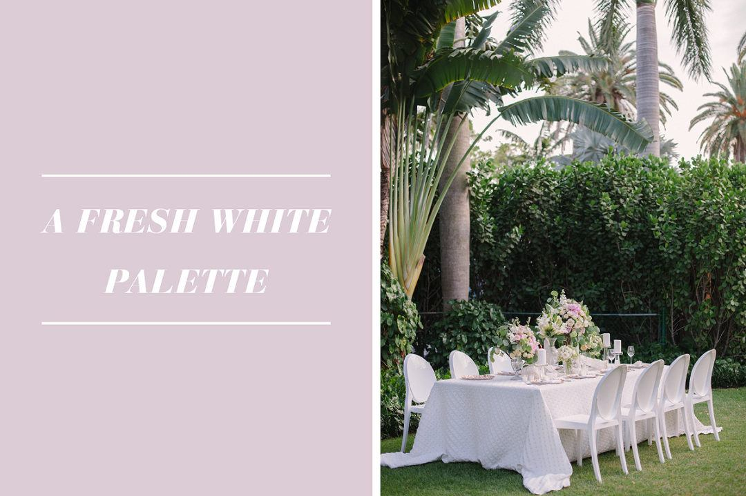 Inspirational Tips For A Timeless All White Wedding Design Nage
