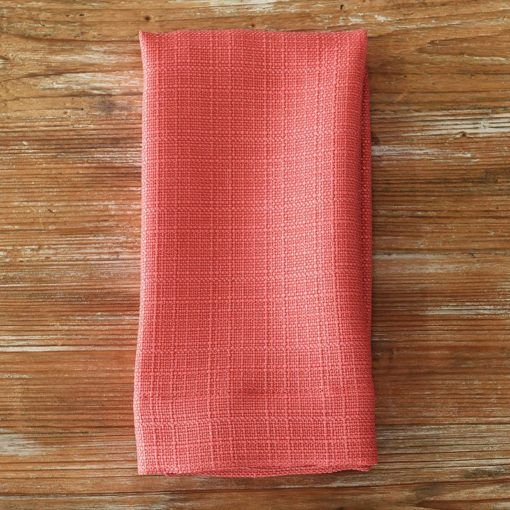 Coral Oxford Napkin