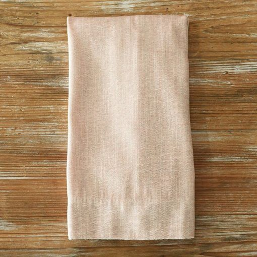 Rose Metallic Burlap Napkin