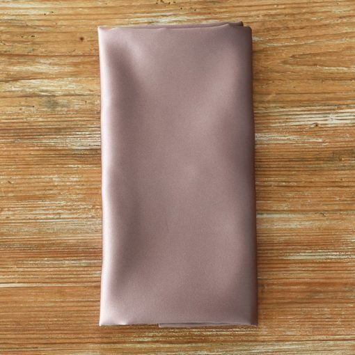Evening Mauve Satin Napkin