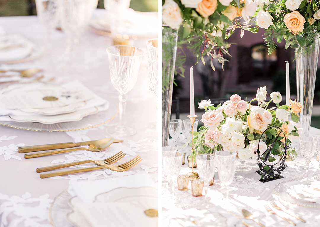 White Lace And Linen Inspiration For an Outdoor Wedding - Nüage Designs