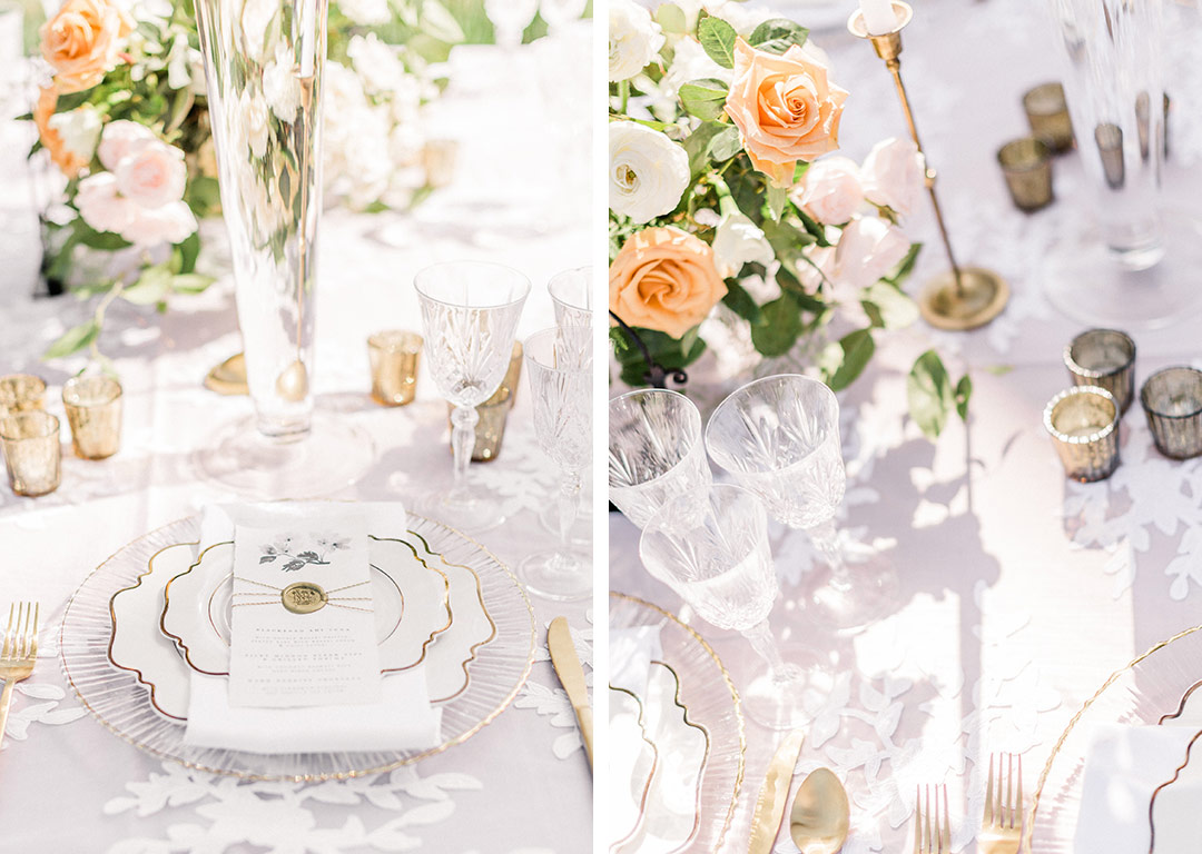 white lace and linen inspiration for an outdoor wedding nüage designs