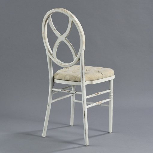 Lugano Chair - Tufted Linen Seat