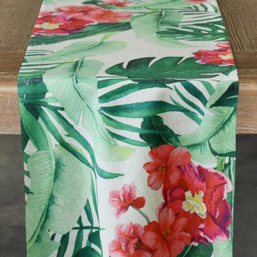 Hibiscus Palm Runner