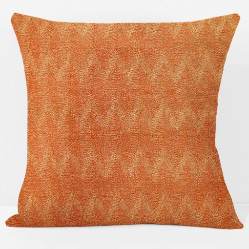 tangerine-chevron-pillow